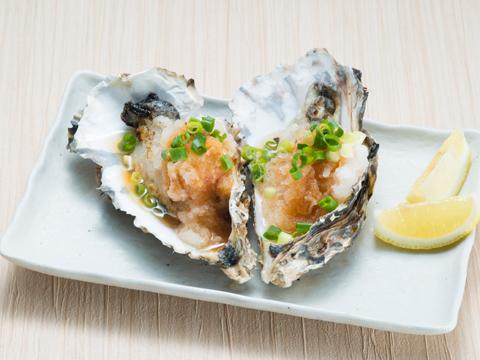 殻付牡蠣のソテー 2ケ